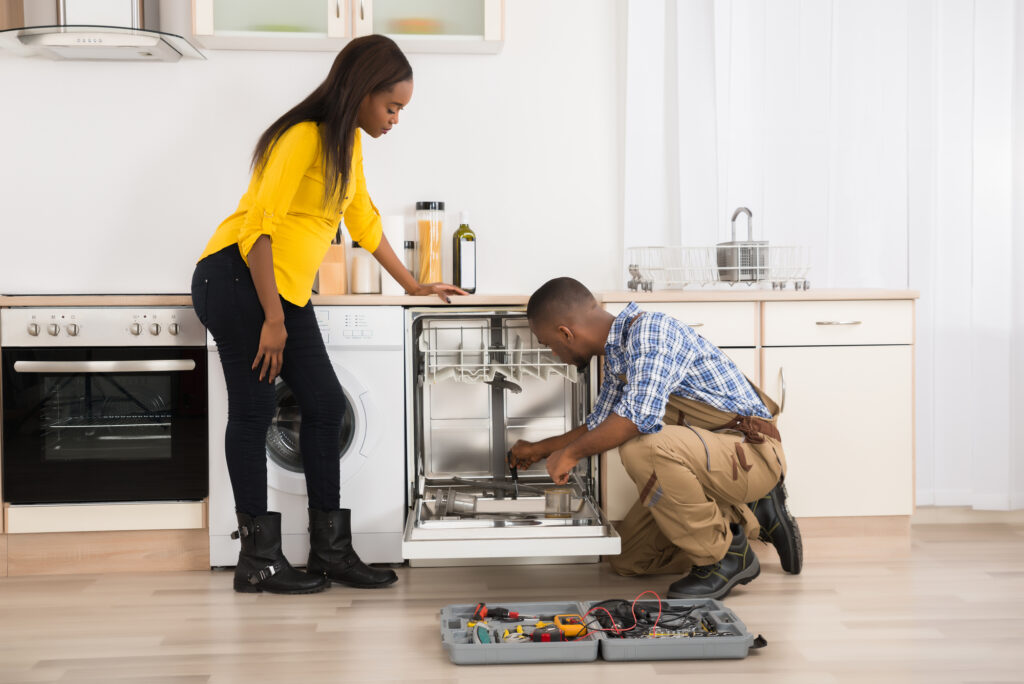 Repacing and installing a dishwasher - plumbing services san antonio - chambliss plumbing